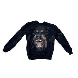 Givenchy Rottweiler Cuban Oversized Fit Sweatshirt Jumper Black Size S