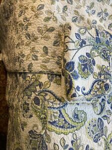 Cynthia Rawley Reservisable Paisley Quilt And 2 Shams Blue Green White Queen