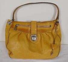 MARC JACOBS XL TAN CALF LEATHER SHOULDER SATCHEL BAG SUEDE LINER LOCK KEY