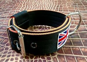 "BC5 Handmade Webbing Dog Collar 2"" wide Lurcher/Greyhound/Bull Cross 14""-22"""