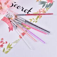 7pcs/set Nail Art Brush Painting Drawing Pen Acrylic Gel Crystal Tips Desi%P