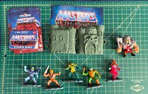 Mattel Masters of the Universe Mini Figures miniature lot 6 w/Castle Greyskull