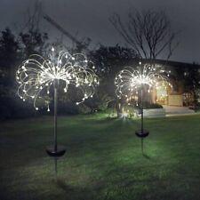 2X Fireworks LED Fairy String Lights Starburst Solar Xmas Garden Night Lamp