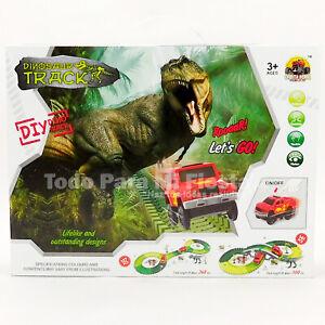 Kids DIY Dinosaur Race Track Toys Car Set Boys Gift Toys Juguete Regalo