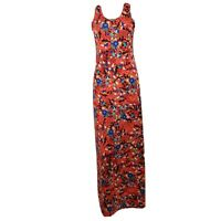 NWOT LULAROE Red Blue Floral Sleeveless Dani Maxi Dress Womens Size S Small