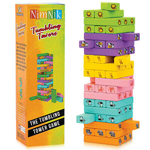 Tumbling Towers Family Fun Games for Kids - 54 Pcs Gifts Ideas