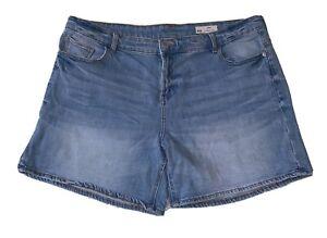 Red Herring Womens Size 18 Denim Shorts, Blue, Faded, debenhams