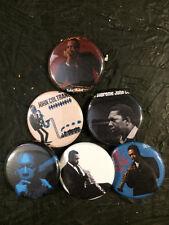 """1.25"""" John Coltrane pin back button set of 6"""