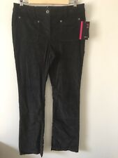 NWT Style&Co Women's Stretch Cordoroy Bootcut Mid Rise Pants Size: 4 Color: Grey