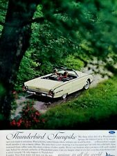 1962 Ford Thunderbird Convertible T Bird Turnpike Original Print Ad 8.5 x 11""