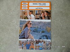 CARTE FICHE CINEMA 2010 MANGE PRIE AIME Julia Roberts James Franco