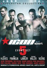 ICON Sport 5 Event Set - Fire in the Cage (DVD, 2009, 2-Disc Set)