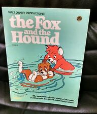 Walt Disney The Fox and the Hound Soft Cover, 1981, Golden Press, Oversized