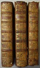 SERMONS NOUVEAUX / RELIGIÖSE SCHRIFT FRANKREICH 1768, 3 Bde. Leder, EA