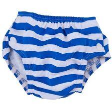 Costume pannolino da acqua mare piscina Popolini L Righe Bianche Blu