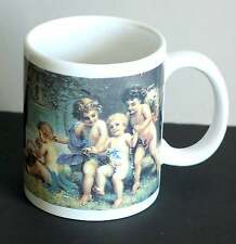 Victorian Children Playing In Garden Porcelain Coffee Tea Mug cherubs Free Sh