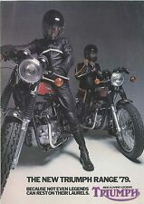 TRIUMPH 1979 Range -  2 page Motorcycle Brochure NCS
