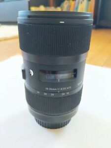 Sigma 210101 18-35mm f/1.8 DC HSM Art Lens for Canon
