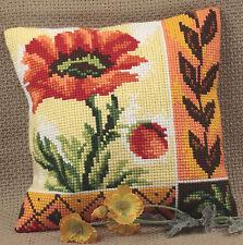 Collection D'Art Cross Stitch Cushion Kit: New Poppy CD5015