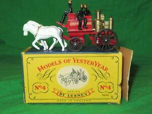 Matchbox Yesteryear Y4 Shand Mason Horse Drawn Fire Engine good boxed