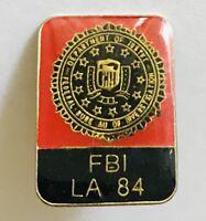 FBI LA 1984 Pin Badge US Federal Bureau Of Investigation Rare Vintage (H5)
