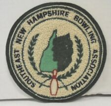 Bowling Association Patch Southeast New Hampshire Vintage Perhaps 60s or Earlier