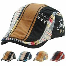 Scottish Tartan Schiebemmütze Baker Boy Golf Newsboy Flatcap Hut Kappe Mütze