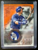 2019 Topps Tribute Stamp of Approval JUSTIN SMOAK Jersey Patch Relic Card SP /25