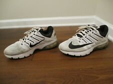 Used Worn Size 10 Nike Air Max Excellerate 4 Shoes White Black Silver