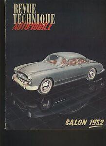 (C1)REVUE TECHNIQUE AUTOMOBILE Spécial SALON 1952