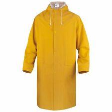 Delta Plus Waterproof Rain Trench Coat Mac Hooded Long Jacket Fishing (MA305)