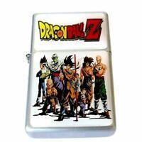 Dragon ball Z Flip Top Lighter Oil Chrome Refillable Cigar Cigarette w insert