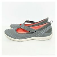 ECCO Women's Leather Arizona Sporty Mary Jane Flats Size 40=US 9-9.5 Gray