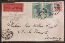 1929 Haiphong Vietnam First Flight Cover FFC To Paris France Bellonte Costes