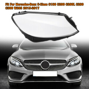 Right Headlamp Shell For Mercedes C Class W205 Headlight Lens Cover 2014-2017