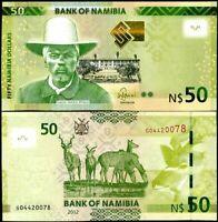 NAMIBIA 50 DOLLARS 2012 P 13 UNC
