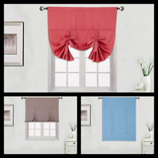 "1PC SOLID TIE UP  ROD POCKET THERMAL BLACKOUT WINDOW CURTAIN PANEL 46""W X63""L"