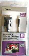Belkin Premium VGA Audio and Video Cable 10'  *New/Sealed*   1.011