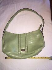 Liz & Co Shoulder Bag Chartreuse Medium Lots Of Compartments EUC