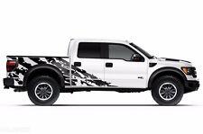 Vinyl Decal Shred Wrap Kit for Ford Truck F-150 Raptor SVT 2010-2014 Matte Black