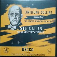 Sibelius - Symphonies, COLLINS, LSO, 6 LP Box, Decca LXT MONO, 180g, NEW SEALED