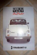 original Prospekt IFA Trabant 1.1 Viertakt Auftakt DDR 1990 4 Seiten Neuzustand