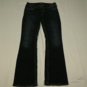 Silver 31 x 34 Suki Surplus Boot Cut Bold Stitch Dark Rinse Stretch Denim Jeans