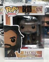 """⭐️The Walking Dead- """"KING"""" Ezekiel #574 Funko Pop POP! TV + Pop Protector⭐"""