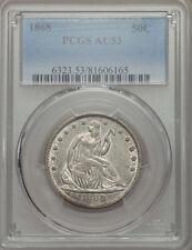1868 Seated Liberty Half Dollar PCGS AU53 - VERY ATTRACTIVE! (06165)