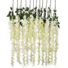 6Pcs Artificial Fake Wisteria Vine Ratta Hanging Silk Flowers Wedding Home Decor
