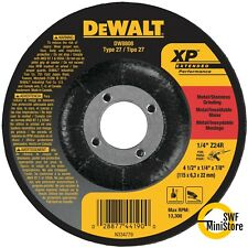"Dewalt DW8808 4-1/2"" X 1/4"" X 7/8"" XP GRINDING WHEEL 5 pack"