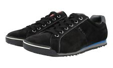 AUTH LUXURY PRADA SNEAKERS SHOES 4E2719 BLACK SUEDE NEW US 11 EU 44 44,5