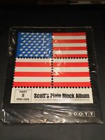 Scott Plate Block Commemorative Album Pages Quad Drilled Part 2-1940-1959