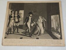 1820 French copper engraving of Napoleon and his wife 9 x11